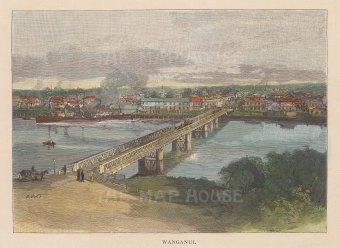 Wanganui. View of the city and Wanganui river.