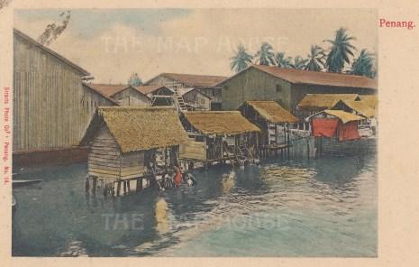 "Straits Photo Co.: Penang Island. c1920. A hand coloured original vintage photograph. 5"" x 3"". [SEASp1260]"