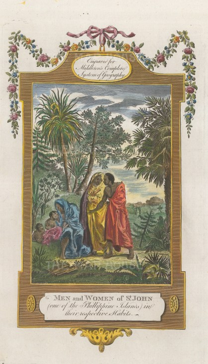 "Middleton: St. John. 1778. A hand coloured original antique copper engraving. 7"" x 12"". [SEASp1508]"