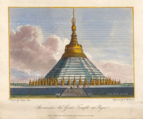 Bago: View of the temple Shwemawdaw (Golden Shrine) said to contain two hairs of Guatma Buddha.