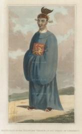 Vietnam. Mandarin of the military order in ceremonial dress.