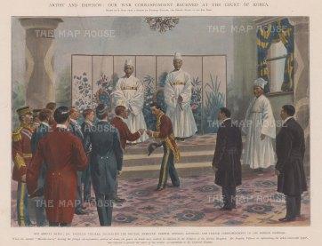 Korea: Reception of the Ambassadors to Emperor Gojong.