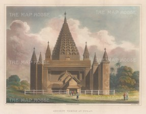 Pagan: View of Shewgugyi temple.