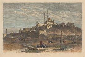 "Illustrated London News: Saladin Citadel, Cairo. 1881. A hand coloured original antique wood engraving. 12"" x 9"". [EGYp1119]"