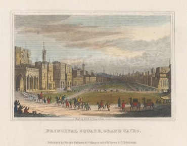 "Fullarton: Cairo. 1836. A hand coloured original antique steel engraving. 5"" x 4"". [EGYp1144]"