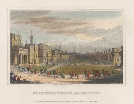 "Fullarton: Cairo. 1836. A hand coloured original antique steel engraving. 5"" x 4"". [EGYp1144]"