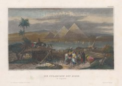 "Meyer: Giza. 1839. A hand coloured original antique steel engraving. 6"" x 4"". [EGYp1147]"