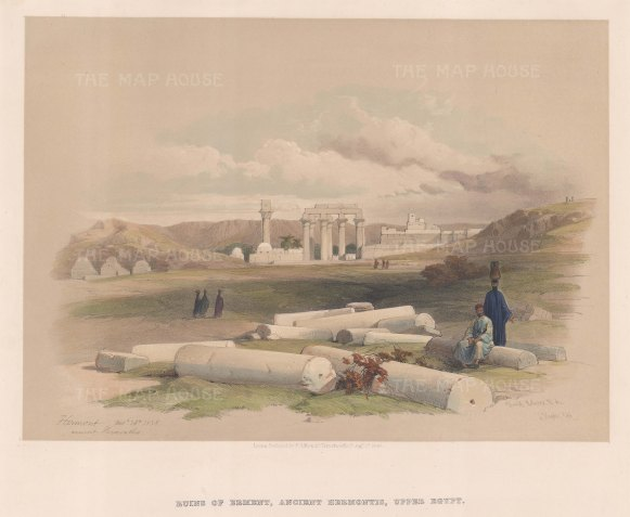 Erment, Ancient Hermontis, Upper Egypt: View of the temple ruins originally dedicated to the god Montu.