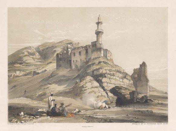 Guyushi Mosque (Masjid al-Juyushi): View from the plateau of the Muqattam hills.