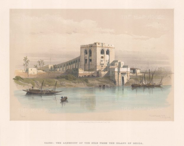Nile River: Aqueduct of the Nile from the Island of Rhoda.