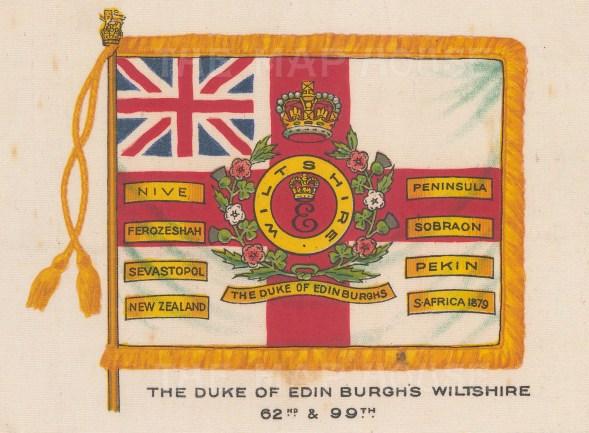 Duke of Edinburgh's Wiltshire Regiment 62nd & 99th. Now the Duke of Edinburgh's Royal Regiment (Berkshire and Wiltshire).