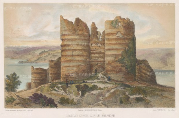 Yoros Castle, also known as the Genoese Castle as Genoa occupied it throughout the 15th century. After Jules Laurens.