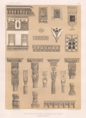 Architectural elements of the palaces at Eunieh (Unye) and Tireboli (Tirebolu).