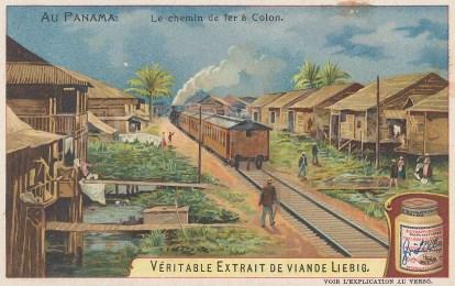"""Liebig's Extract: Colon, Panama. 1905. An original antique chromolithograph. 4"""" x 3"""". [CAMp121]"""
