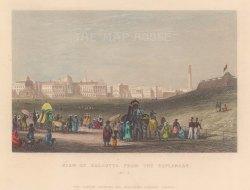 "White: Kolkata. 1838. A hand coloured original antique steel engraving. 7"" x 5"". [INDp1551]"