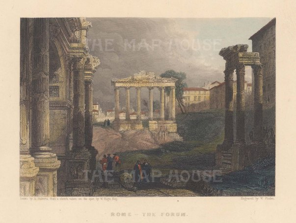 View towards the Temple of Saturn.