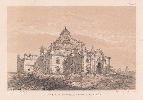 Bagan. South Eastern view of Dhammayangyi Temple.