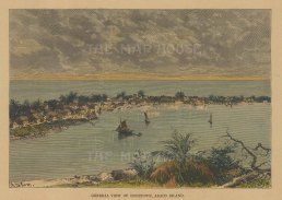 "Reclus: Abaco Island, Bahamas. 1894. A hand coloured original antique wood engraving. 7"" x 5"". [WINDp1205]"