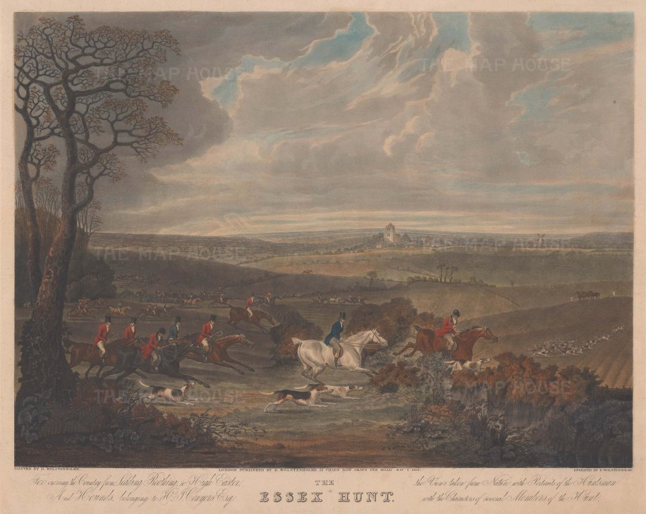 Essex Hunt: Full Cry from Leading Roothing to High Easter.