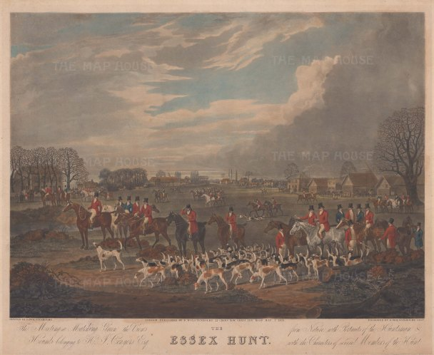 Essex Hunt: The Start of the Hunt at Matching Green.