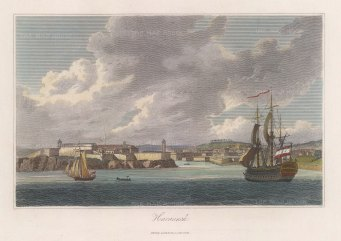 "Jackson: Havana, Cuba. c1834. A hand coloured original antique steel engraving. 10"" x 8"". [WINDp1154]"