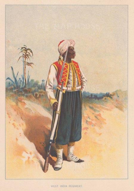 West India Regiment. India.