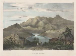 Catas Altas: View over a lake at the base of the eastern slope of the Espinhaço Range. Catas Altas integrates the Gold Circuit along the Estrada Real.