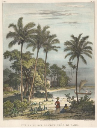 "Rugendas: Bahia. 1835. An original colour antique lithograph. 10"" x 13"". [SAMp1396]"