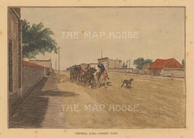 "Brown: Acha, Argentina. 1884. A hand coloured original antique photo-lithograph. 6"" x 4"". [SAMp1415]"