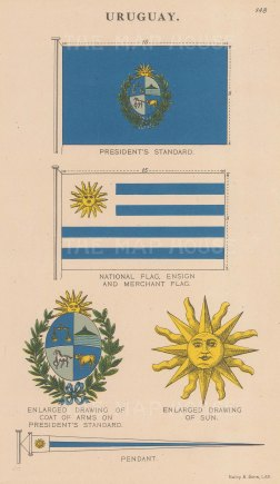 President's flag and standard and National, Ensign, Merchant flag.