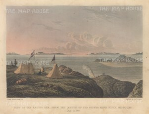 Copper Mine River at Midnight: View from the Arctic Sea. Franklin's Coppermine Expedition 1819-22.