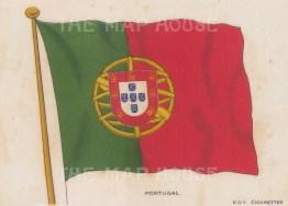 "BDV Cigarettes: Portigal. c1910. Original printed colour on silk. 6"" x 4"". [ARMp100]"