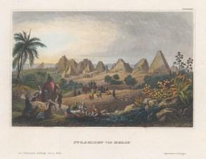 Sudan: View of the Meroe Pyramids at al-Bagrawiya.