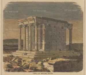 "Collins: The Acropolis, Athens. c1870. A hand coloured original antique wood engraving. 7"" x 6"". [GRCp894]"