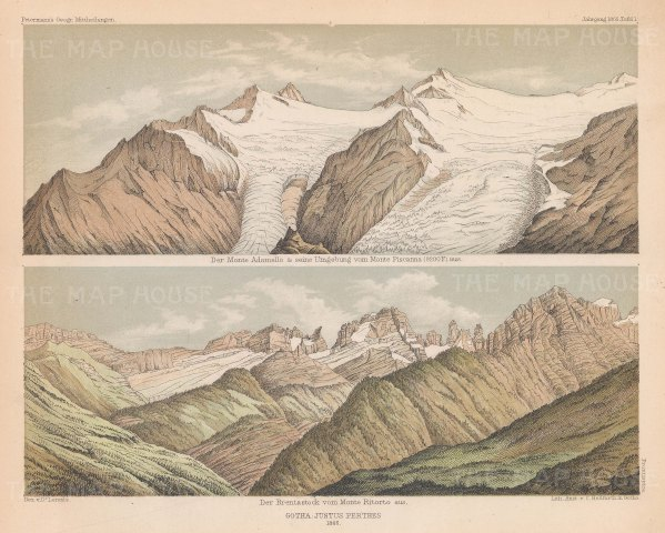 Monte Adamello from Monte Piscanna, and the Brentastock from Monte Ritorto.