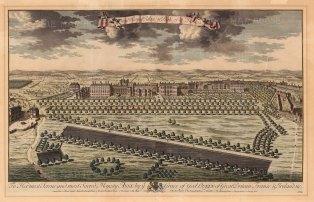 """Kip: St James's Palace. 1715. An original antique copper engraving. 18"""" x 22"""". [LDNp5669]"""