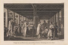 Ulietea (Raiatea). After Sydney Parkinson, artist of the First Voyage.
