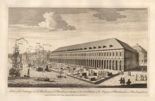 "Sayer: Royal Exchange, St. Petersburg. 1774. An original antique copper engraving. 18"" x 12"". [RUSp669]"