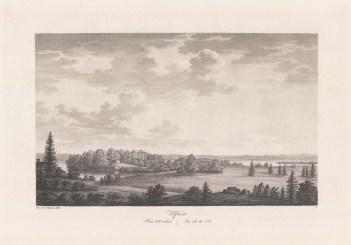 "Thersner: Ulfasa, Sweden.1820. An original antique aquatint. 13"" x 9"". [SCANp282]"