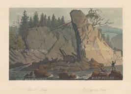 "Boydell: Lundy, Norway. 1820. An original colour antique aquatint. 14"" x 10"". [SCANp329]"