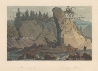 "Boydell: Lundy, Norway. 1820. An original colour antique aquatint. 14"" x 10"". [SCANp329]"