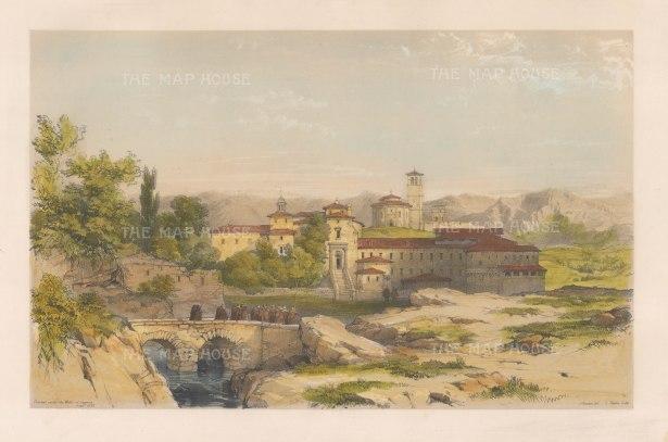 """Vivian: Convent of Santa Maria del Parral, Segovia. 1838. An original colour antique lithograph. 15"""" x 10"""". [SPp1063]"""