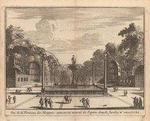 "Van der Aa: Fountain of the Harpies, Aranjuez. 1706. An original antique copper engraving. 5"" x 4"". [SPp1104]"