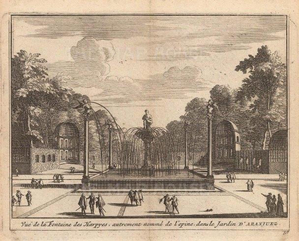 Fountain of the Harpies in the Garden of Aranjuez.