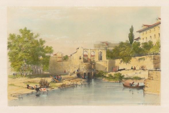Cordoba: View of the Moorish watermills on the Guadalquivir River.