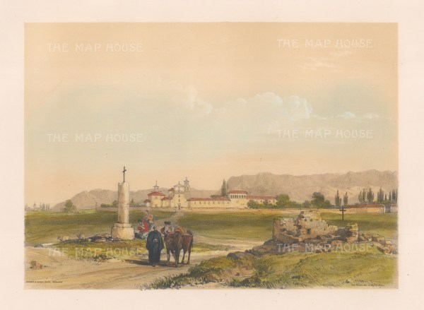 """Vivian: San Benito Reale, Valladolid. 1838. An original colour antique lithograph. 15"""" x 10"""". [SPp862]"""