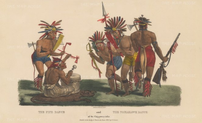 Pipe Dance and Tomahawk Dance of the Chippeway Tribe.