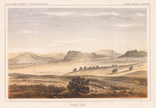 "U.S.P.R.R. Exp.: Bear's Paw Mountains, Montana. 1857. An original colour antique lithograph. 10"" x 7"". [USAp4905]"