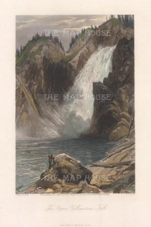 Upper Yellowstone Falls: After Thomas Moran.