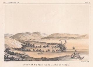 Tehachapi Mountains: View of the entrance to the Tejon Pass